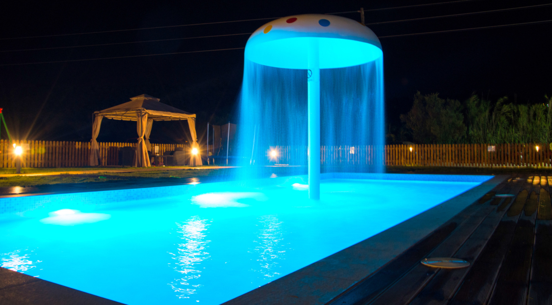 children pool night